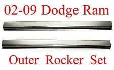 02 09 Dodge Quad Cab Outer Rocker Panel Set, Fits 4 Door Ram Truck, L&R Pair