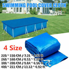 Rectangle/Round Swimming Pool Cover for Garden Outdoor Paddling Family Pools ☀