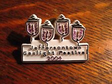 Jeffersontown KY Lapel Pin - 2004 Kentucky USA City Gaslight Festival Souvenir