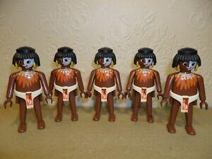 PLAYMOBIL ZULU WARRIORS (Ethnic African Tribesmen,Aztecs)