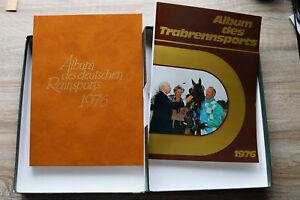 2 Bd. Album d Deutschen Rennsports + Trabrennsport 1976 Sport Welt Sulky Jockey