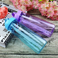 Outdoor Flip Straw Water Bottle Running Camping Leak Proof Sport Bottle New