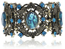 Bronze  Antique Sapphire Blue Garden Oval S Hot Chic Bracelet