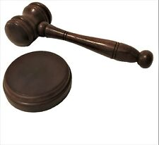 Handmade Wooden Gavel and Sound Board Block Judge Auction Auctioneers Mason