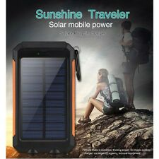Waterproof Solar Power Bank 10000mAh Portable External Battery Charger For Phone