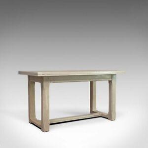 Antique Dining Table, Jacobean Revival, Painted, Oak, Refectory, Seats 4, c.1910