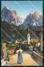 Bolzano Castelrotto Siusi allo Sciliar Costumi cartolina QT3149