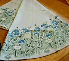 New+Cacharel+Oval+Tablecloth%2C+gorgeous+blue+flowers