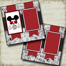 First Disney Trip - 2 Premade Scrapbook Pages - EZ Layout 3920