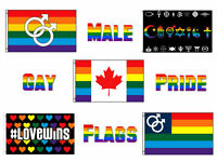 3x5 Wholesale Lot Canada Gay Pride Male Set Flags Flag 3'x5'