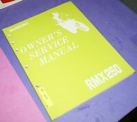 1992 Suzuki RMX250 Motorcycle Factory Owner's Service Manual 99311-05D54-03A