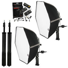 Fotodiox Duo 20in Speedlite Softbox Kit for Canon (1N+3N) with Stands + Triggers