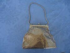 vintage glomesh art deco gold handbag metal mesh