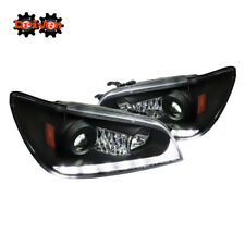 01-05 Lexus IS300 LED DRL Switchback Turn Signal Projector Headlights Black