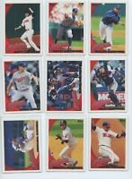 2010 TOPPS & TOPPS UPDATE CLEVELAND INDIANS TEAM SET W/DRAFT PICKS RCs (30)