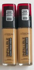 (2) Loreal Infallible Fresh Wear Foundation, 500 Honey Bisque