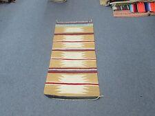 """Vintage Hand Made Wool Blanket Southwest American Navajo Weaving 18"""" x 38"""""""