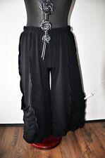 MYO-Lagenlook raffinierte Jersey-Marlenehose schwarz wellige Nähte XXL,XXXL