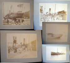 CIRCA 1898 USS YANKEE BROOKLYN NEW YORK MAYOR LARGE FORMAT PHOTOS