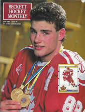 Eric Lindros Beckett Price Guide June, 1991 Issue # 8 John Cullen On Back Cover