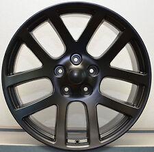 "22"" SRT10 Dodge Ram Laramie Hemi SRT Factory Style Wheels Rims Satin Black 1500"