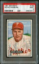 1951 Bowman 186 Richie Ashburn Phillies PSA 9 26902513