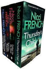 Nicci French Collection Thursday's Child Friday on My Mind 4 Books Set NEW