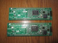 2x NORITAKE ITRON CU20029ECPB VFD Display Board 20 CHARACTERS x 2 LINES