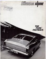 Sunbeam Alpine 1725cc Fastback 1969-71 UK Market Sales Brochure Arrow
