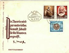 EAST GERMANY First Day Covers {3}KARL MARX Set FDC DDR 1953{samwells-covers}SO11