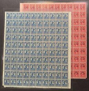US #647-648 Hawaii Overprint Two Full Sheets of 100. MNH F-VF (BCV $3,200)