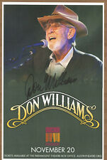 Don Williams autographed gig poster