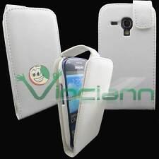 Custodia Flip BIANCA per Samsung Galaxy S3 mini i8190 cover apertura verticale