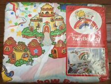 Rainbow Brite Vintage Hallmark 3 Piece Twin Sheet Set ~ New in Package!