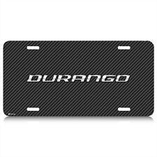 Dodge Durango Carbon Fiber Look Graphic Aluminum License Plate, Made in USA