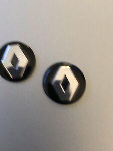 Renault  Keyring Sticker x 2 for standard flip key Stickers apx 14mm