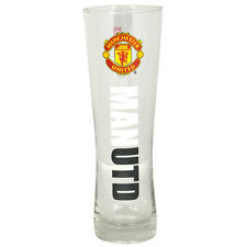 Manchester United FC Wordmark PERONI Tall Birra Pinta in vetro 24 cm nuovo regalo di Natale
