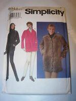 WOMENS UNCUT SIMPLICITY 8942 Sewing Pattern TOP KNIT PANTS COAT JACKET SIZE 6-12