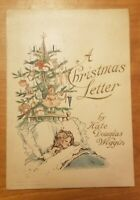 1910s Vintage Antique Christmas Card Unused Kate Douglas Wiggin 1912