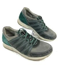 Women's Dansko Gray & Green Suede Sneakers GABI Sz 38 US 7.5-8