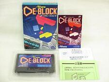 Famicom DE BLOCK MINT Condition Nintendo Japan Boxed Game fc
