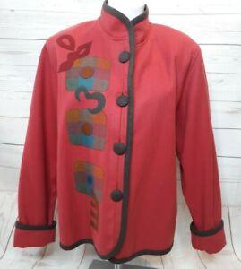 Beppa Wool Jacket M Womens Wearable Art Blazer Coat
