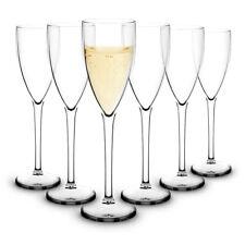 RB Unbreakable Champagne Flute Polycarbonate Premium Plastic 15cl, Set of 6