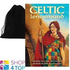 CELTIC LENORMAND ORACLE DECK CARDS CHLOË MCCRACKEN ESOTERIC ASTROLOGY VELVET BAG
