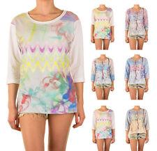 Lange 3/4 Arm Damen-Pullover ohne Verschluss