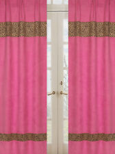 Sweet Jojo Pink Cheetah Print Girl Kid Window Treatment Panels Curtains Covering