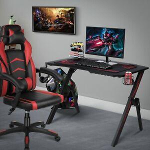 "43""Gaming Desk Computer Table PC Laptop Ergonomic Racing Style Gamer Workstation"
