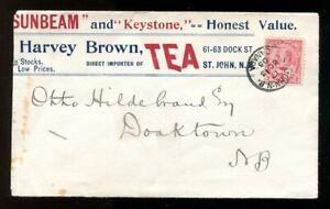 p87 - Canada ST JOHN NB 1903 Tea Merchant ADVERTISING Cover