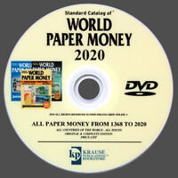 LE CATALOGUE DES BILLETS DU MONDE DE 1368 À 2020 SUR DVD- WORLD PAPER MONEY 2020