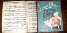 transcriptions pour piano par Yvonne Blanc swing jazz 1945
